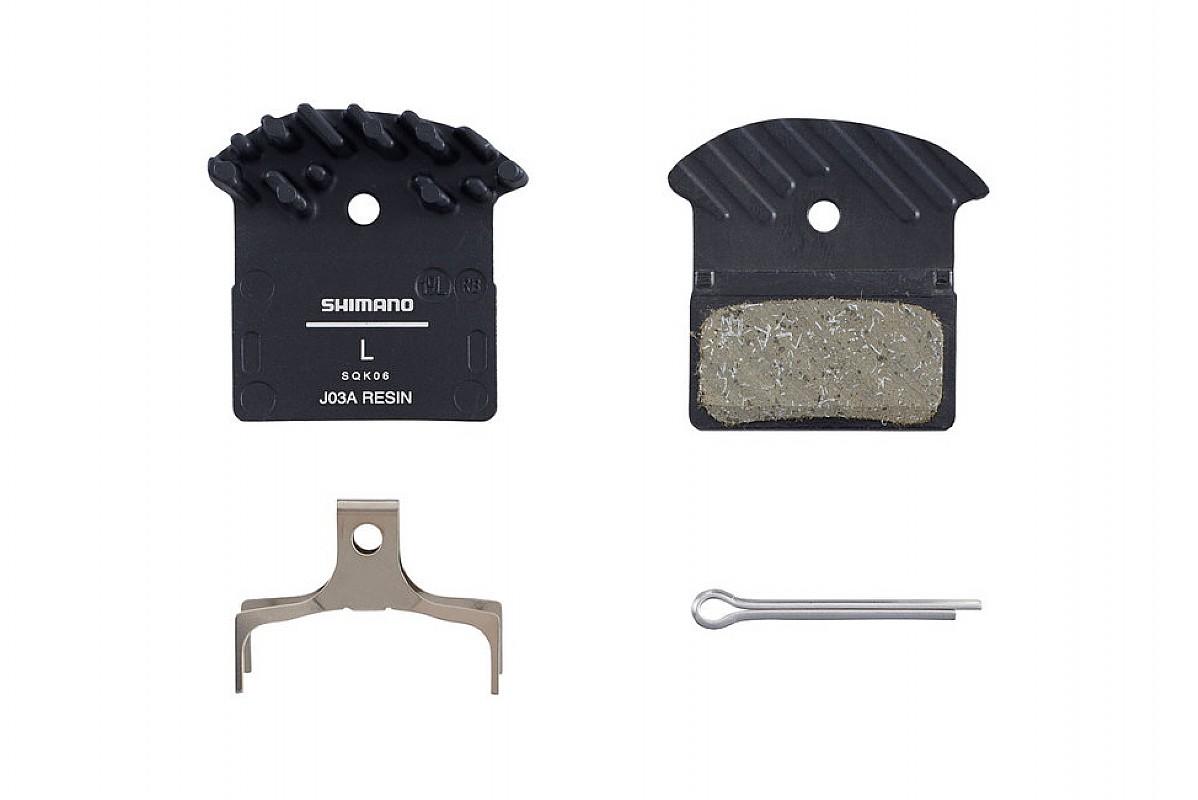 SHIMANO G03S A01S J02A J03A J04C Disc Brake Pads Resin Metal Cooling Fins XTR XT