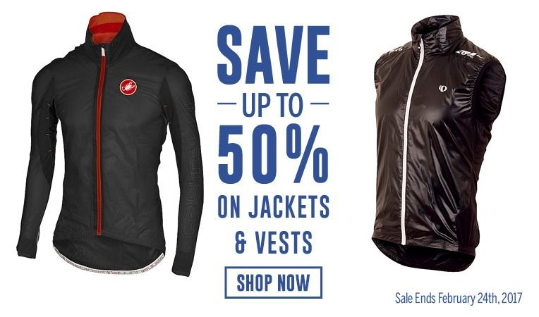 2 Days Only - Save Up to 50% on Jackets & Vests - Sale Ends February 24, 2017