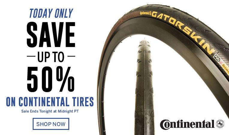Today Only - Save Up to 50% on Continental Tires - Sale Ends TONIGHT at Midnight PT