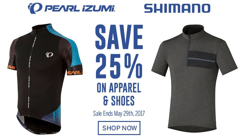 Pearl Izumi & Shimano - Save 25% on Apparel & Shoes - Sale Ends May 29, 2017