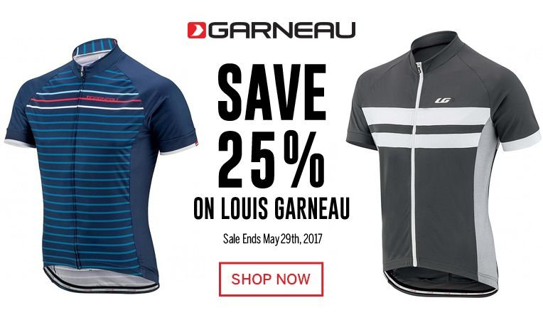 Save 25% on Louis Garneau - Sale Ends May 29, 2017