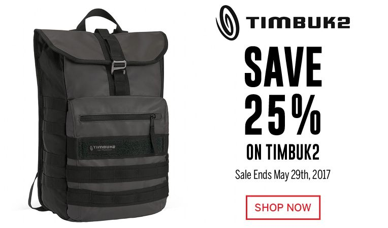 Save 25% on Timbuk2 - Sale Ends May 29, 2017