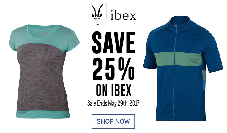 Save 25% on Ibex - Sale Ends May 29, 2017