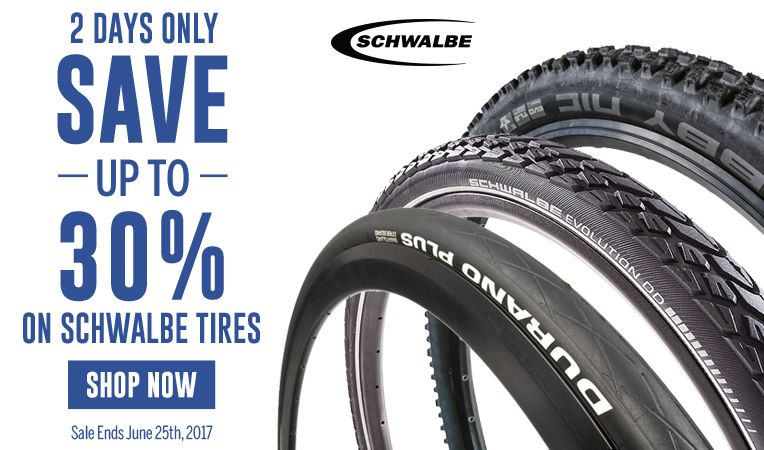 2 Days Only - Save Up to 30% on Schwalbe Tires - Sale Ends June 25, 2017