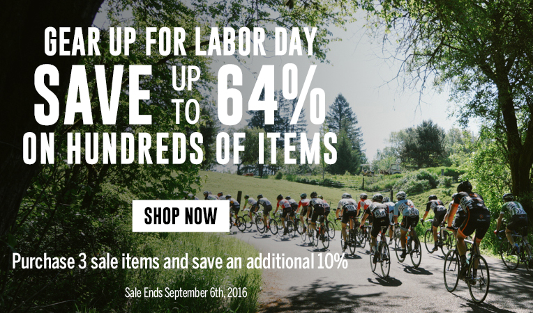 Gear Up for Labor Day - Save Up to 64% on Hundreds of Items - Sale Ends September 6, 2016