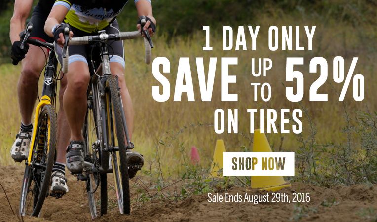 1 Day Only - Save Up to 52% on Tires - Sale Ends August 29, 2016