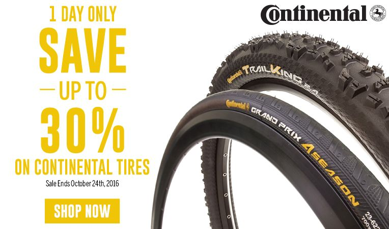 1 Day Only - Save Up to 30% on Continental Tires - Sale Ends October 24, 2016