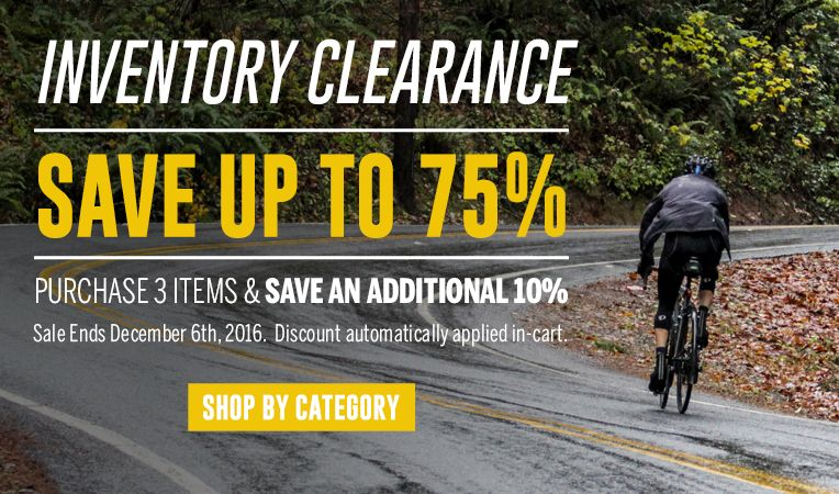 Inventory Clearance - Save Up to 75% - Purchase 3 Items & Save an Additional 10% - Sale Ends December 6, 2016